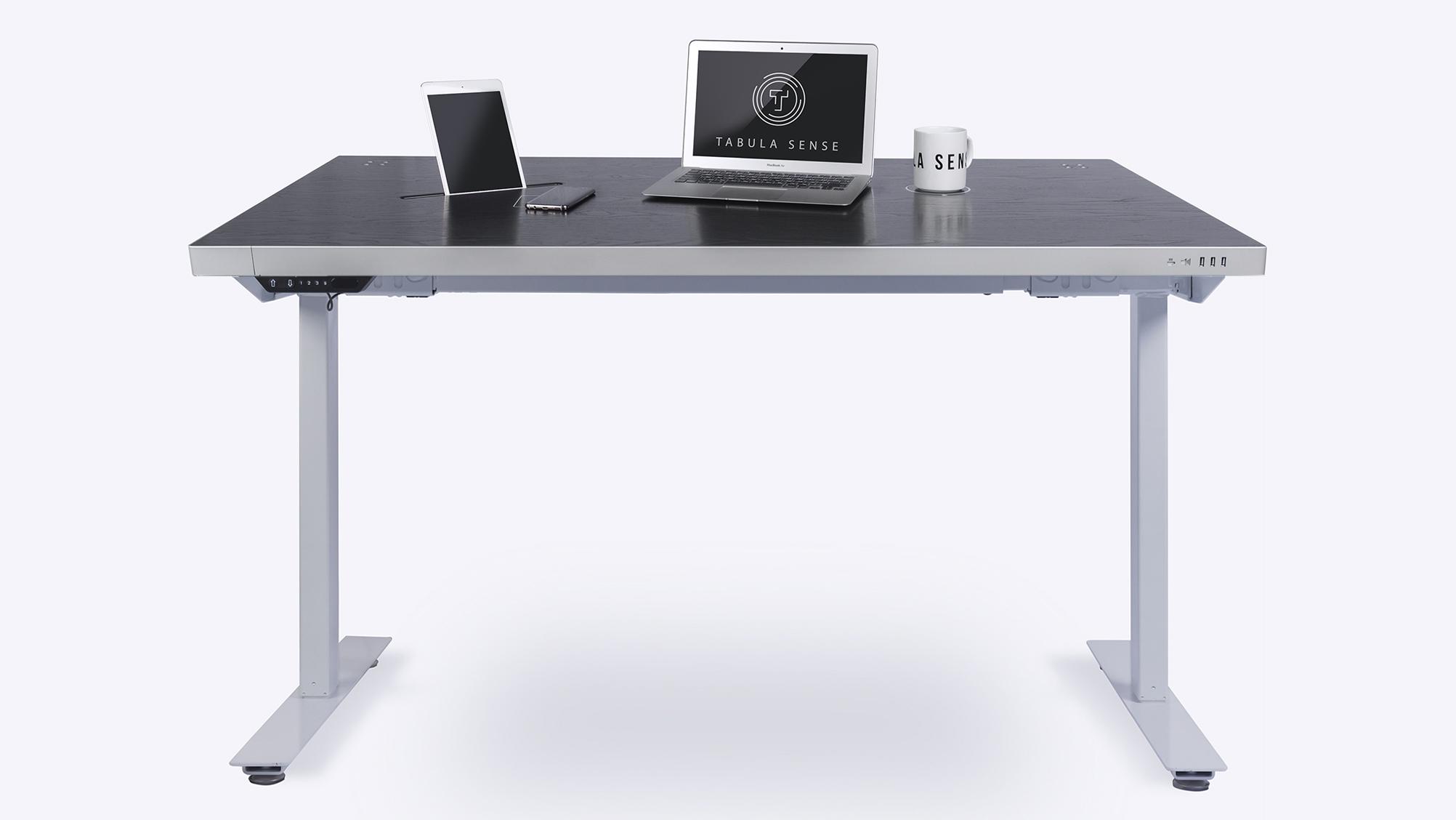 Стол стандартный Tabula Sense Smart Desk Mech черный/белый
