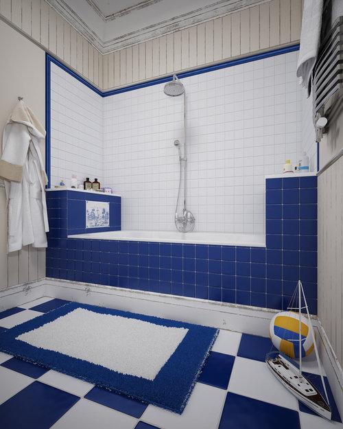 Фотография: Ванная в стиле Современный, Классический, Дом, Дома и квартиры, Прованс, Проект недели – фото на InMyRoom.ru