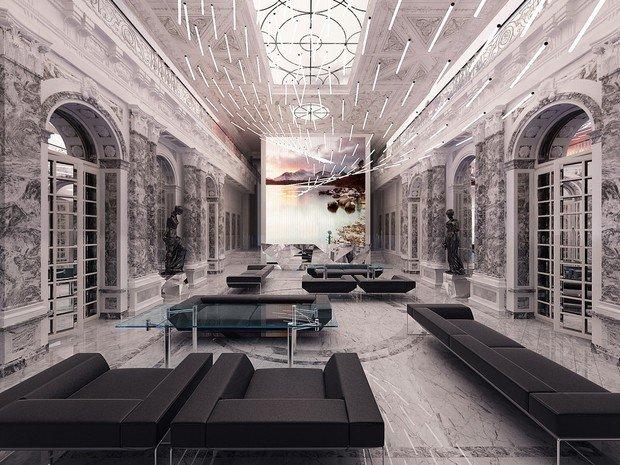 Фото из портфолио Зона Reception.Офисный центр. Москва – фотографии дизайна интерьеров на INMYROOM