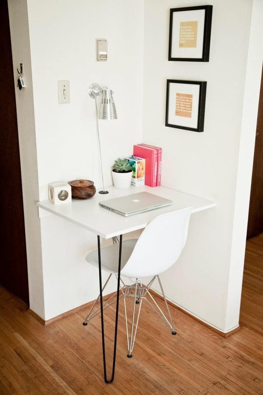 Фотография: Кабинет в стиле Современный, Малогабаритная квартира, Квартира, Советы – фото на InMyRoom.ru