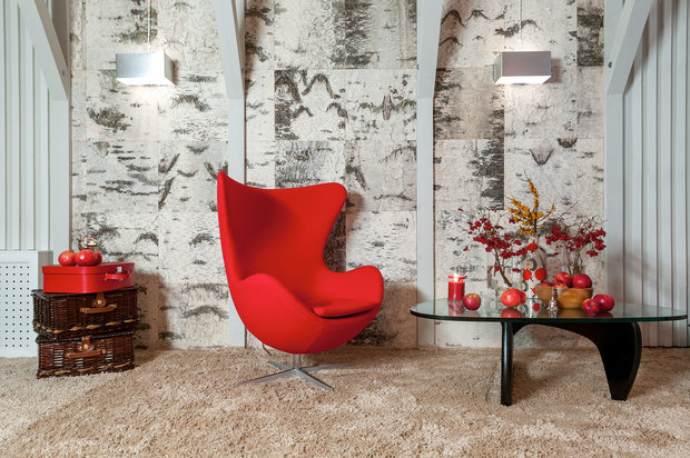 Фотография: Мебель и свет в стиле Современный, Гостиная, Интерьер комнат, Мансарда – фото на InMyRoom.ru