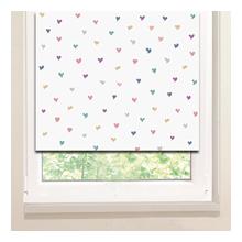 Рулонные шторы: Цветные сердечки