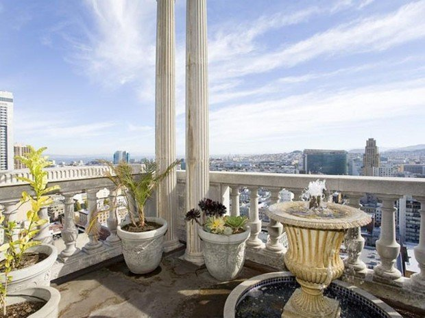 Фотография: Балкон, Терраса в стиле Прованс и Кантри, Классический, Современный, Квартира, Дома и квартиры, Камин, Пентхаус, Ар-деко – фото на INMYROOM