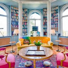 Фотография: Гостиная в стиле Современный, Эклектика, Системы хранения, Библиотека, Домашняя библиотека – фото на InMyRoom.ru