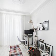 Фотография: Офис в стиле Скандинавский, Современный, Квартира, Цвет в интерьере, Дома и квартиры, Белый, Проект недели – фото на InMyRoom.ru