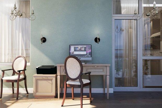 Фото из портфолио Квартира г. Киев, ЖК Отдых. Американская классика – фотографии дизайна интерьеров на INMYROOM