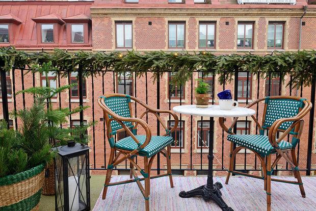 Фотография: Балкон в стиле Скандинавский, Эклектика, Малогабаритная квартира, Квартира – фото на InMyRoom.ru