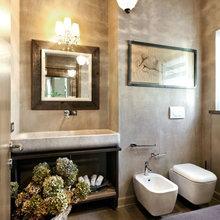 Фотография: Ванная в стиле Кантри, Дом, Дома и квартиры, Прованс, Стены, Балки – фото на InMyRoom.ru