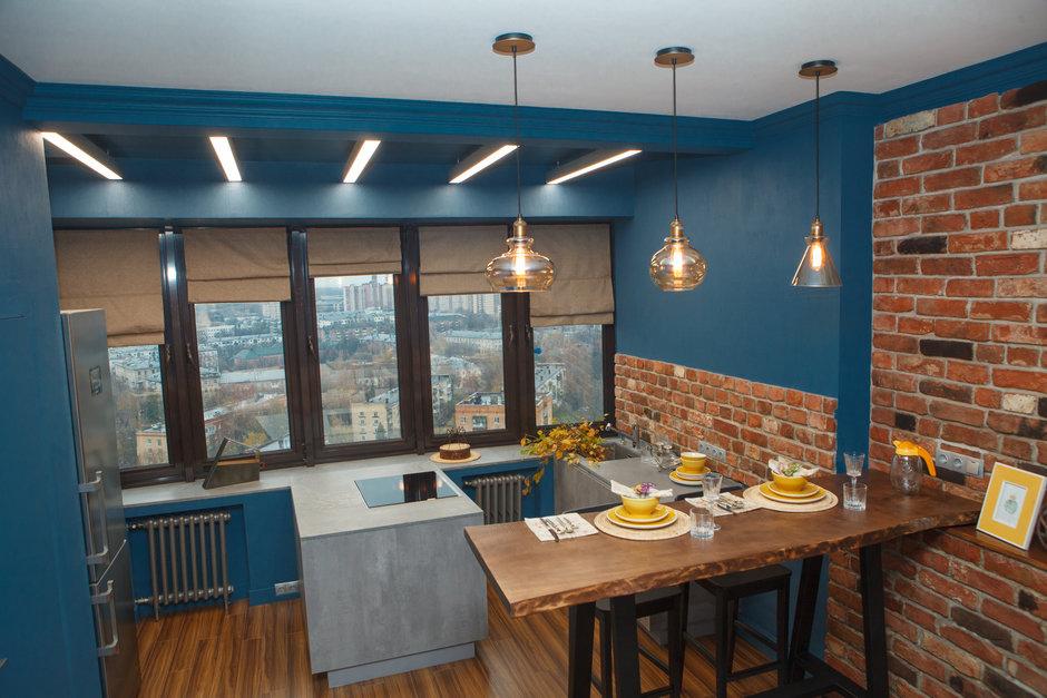 Фотография: Кухня и столовая в стиле Лофт, Квартира, Проект недели, Химки, Ануш Аракелян, Монолитный дом, ЖК «Правый Берег» – фото на InMyRoom.ru