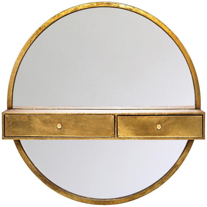 Настенное зеркало Одиссея в металлической раме