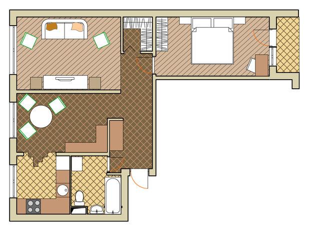 Фотография: Прочее в стиле , Малогабаритная квартира, Квартира, Дома и квартиры, Перепланировка, Переделка, II-49 – фото на InMyRoom.ru