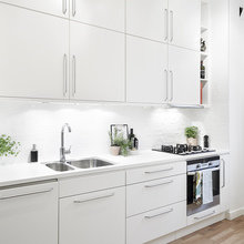 Фото из портфолио Чистый, белый фон в северном стиле – фотографии дизайна интерьеров на INMYROOM