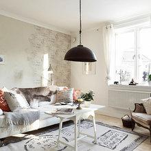 Фотография: Гостиная в стиле Кантри, Декор интерьера, Квартира, Белый – фото на InMyRoom.ru