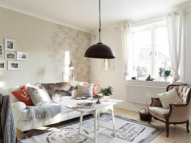 Фотография: Гостиная в стиле Прованс и Кантри, Декор интерьера, Квартира, Белый – фото на InMyRoom.ru