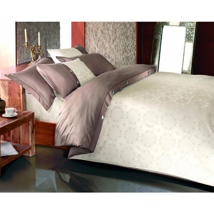 Комплект постельного белья евро Massimo коричневый