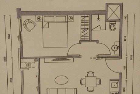 Помогите найти место для холодильника и правильно поставить стол