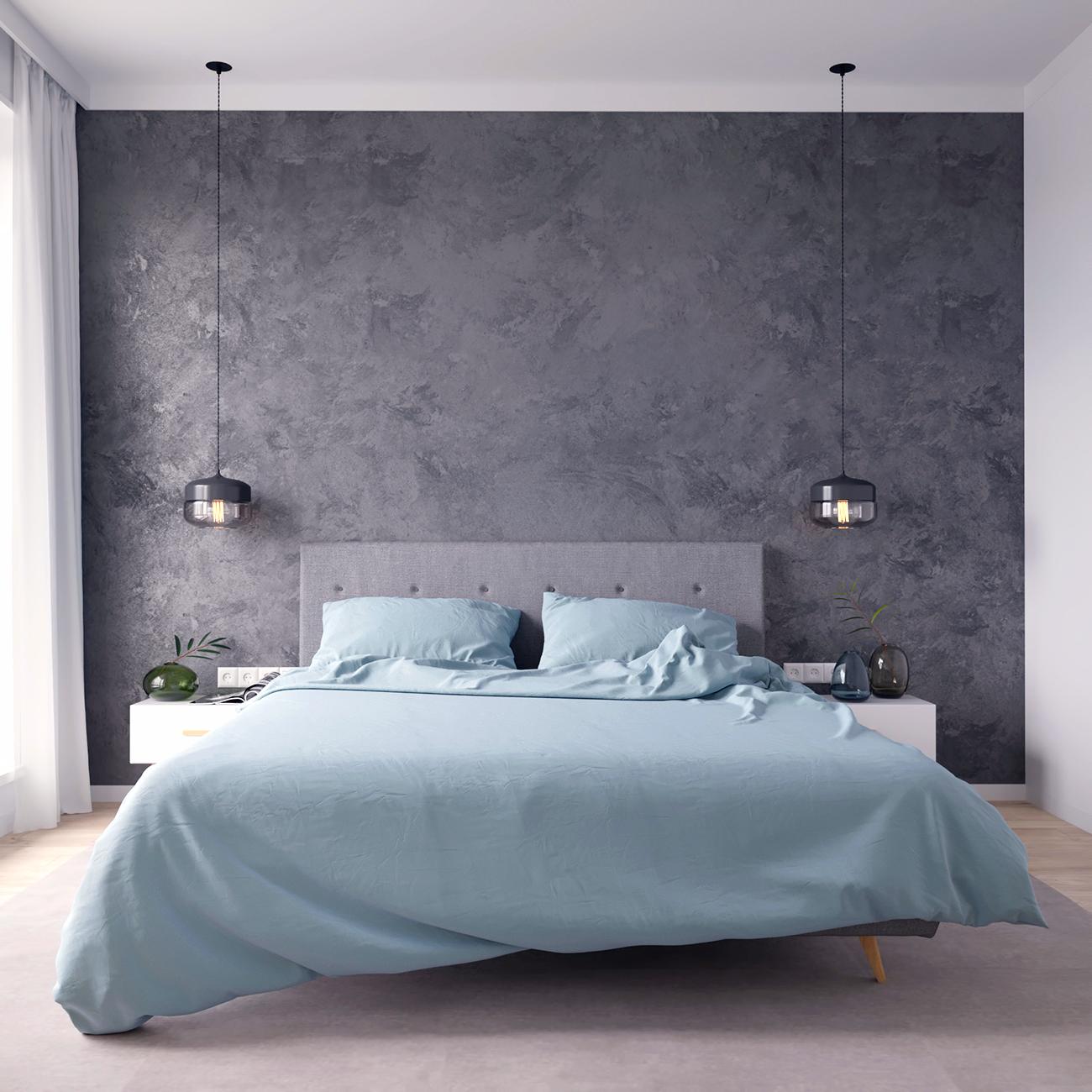 Комплект постельного белья евро с простыней на резинке 160х200 небесно-голубой