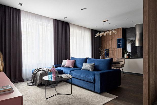 Фотография: Гостиная в стиле Современный, Проект недели, Санкт-Петербург, 2 комнаты, 60-90 метров – фото на INMYROOM