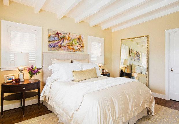 Фотография: Спальня в стиле Прованс и Кантри, Декор интерьера, Дизайн интерьера, Цвет в интерьере, Желтый – фото на InMyRoom.ru