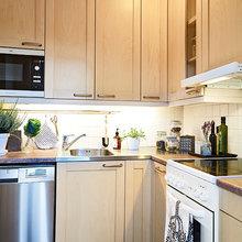 Фотография: Кухня и столовая в стиле Современный, Скандинавский, Декор интерьера, Малогабаритная квартира, Квартира, Швеция, Дома и квартиры – фото на InMyRoom.ru