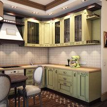 Фотография: Кухня и столовая в стиле Кантри, Классический, Квартира, Проект недели – фото на InMyRoom.ru