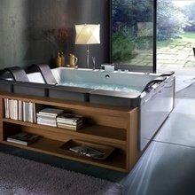 Фотография: Ванная в стиле Современный, Интерьер комнат, Подсветка, Ванна – фото на InMyRoom.ru