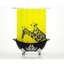 Шторка в ванну: Солнечные жирафы