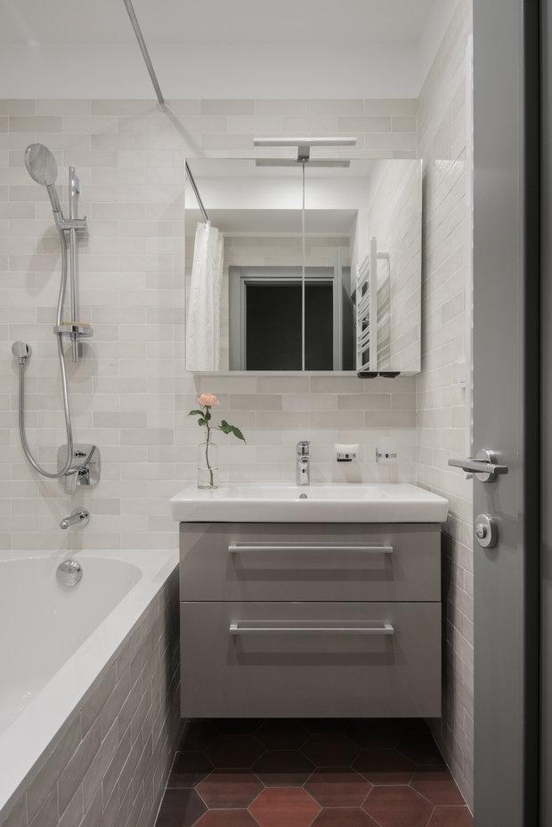 Фотография: Ванная в стиле Современный, Прованс и Кантри, Квартира, Проект недели, Москва, 2 комнаты, 60-90 метров, Наталия Суслина – фото на INMYROOM