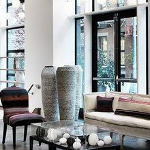 Фотография: Гостиная в стиле Эклектика, Дома и квартиры, Городские места, Отель, Большие окна – фото на InMyRoom.ru
