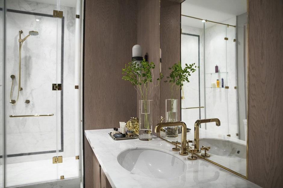 Фотография: Ванная в стиле Классический, Квартира, Проект недели, Москва, Марина Филиппова, 2 комнаты, 60-90 метров, #эксклюзивныепроекты – фото на InMyRoom.ru