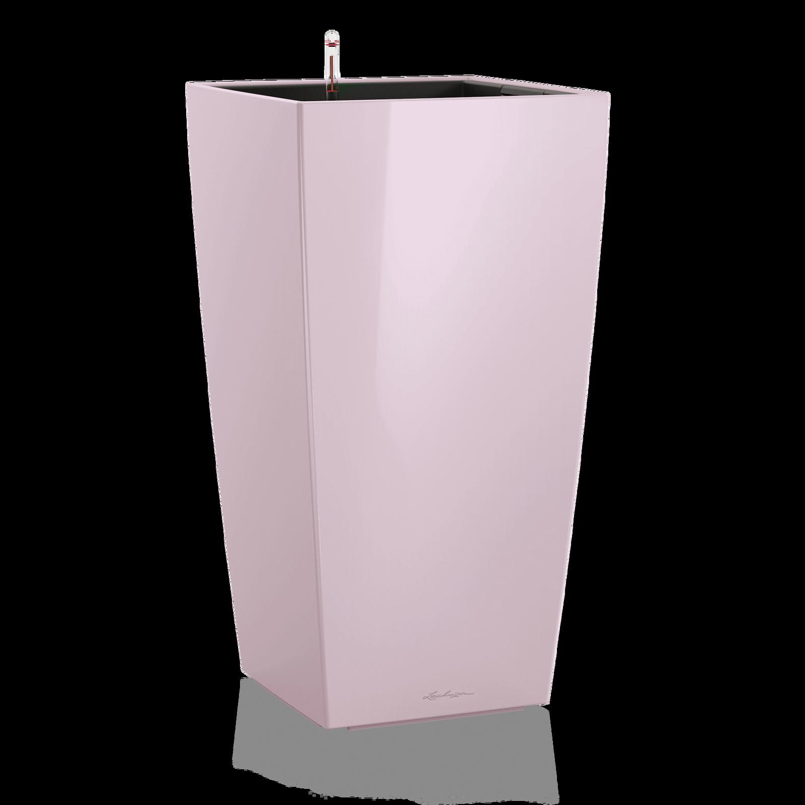 Кашпо кубико светло-фиолетового цвета с системой автополива