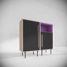 """Комплект-1 из коллекции """"Tube"""" фиолетовый/черный"""