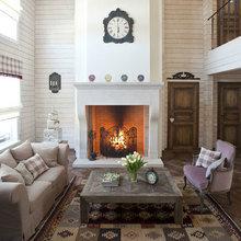 Фотография: Гостиная в стиле Кантри, Классический, Современный, Декор интерьера, Часы, Декор дома – фото на InMyRoom.ru