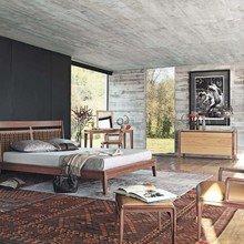Фотография: Спальня в стиле Кантри, Современный, Декор интерьера, Интерьер комнат, Цвет в интерьере, Коричневый – фото на InMyRoom.ru