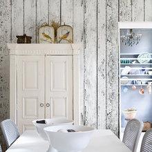 Фотография: Кухня и столовая в стиле Кантри, Декор интерьера, Декор дома, Обои, Стены – фото на InMyRoom.ru