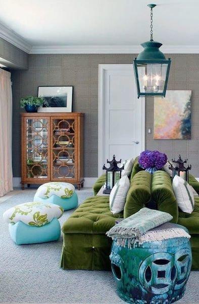 Фотография: Гостиная в стиле Восточный, Декор интерьера, Декор дома, Плетеная мебель – фото на InMyRoom.ru