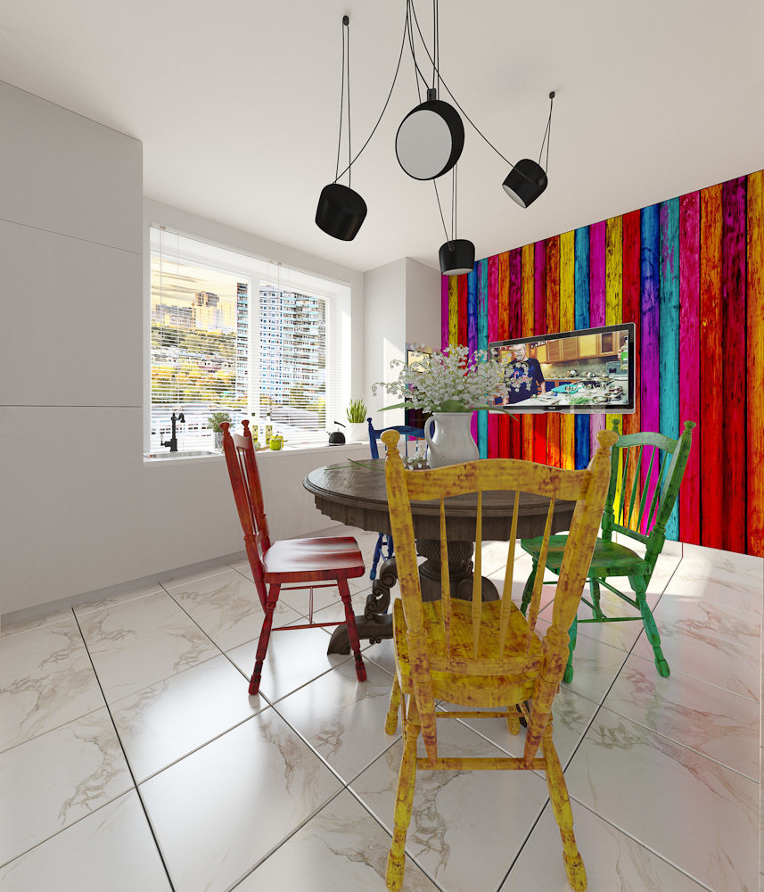 Фотография: Кухня и столовая в стиле Эклектика, Квартира, Дома и квартиры, IKEA, Проект недели – фото на InMyRoom.ru