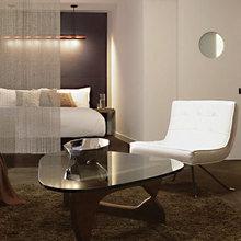 Фотография: Спальня в стиле Скандинавский, Декор интерьера, Декор дома, Ширма, Перегородки – фото на InMyRoom.ru