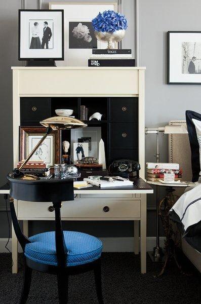 Фотография: Спальня в стиле Прованс и Кантри, Кабинет, Интерьер комнат – фото на InMyRoom.ru