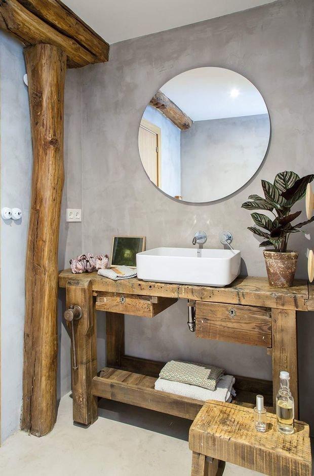 Фотография: Ванная в стиле Эко, Лофт, Эклектика, Декор интерьера, Испания, Винтаж, как оформить интерьер в стиле лофт, mid-century modern – фото на INMYROOM