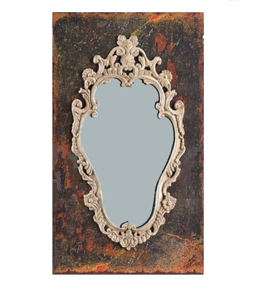 Настенное зеркало Baroque в резной деревянной раме