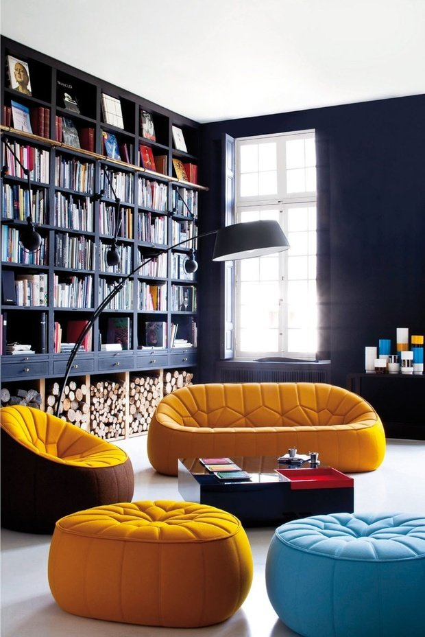 Фотография: Гостиная в стиле Лофт, Декор интерьера, Интерьер комнат, Мебель и свет – фото на InMyRoom.ru