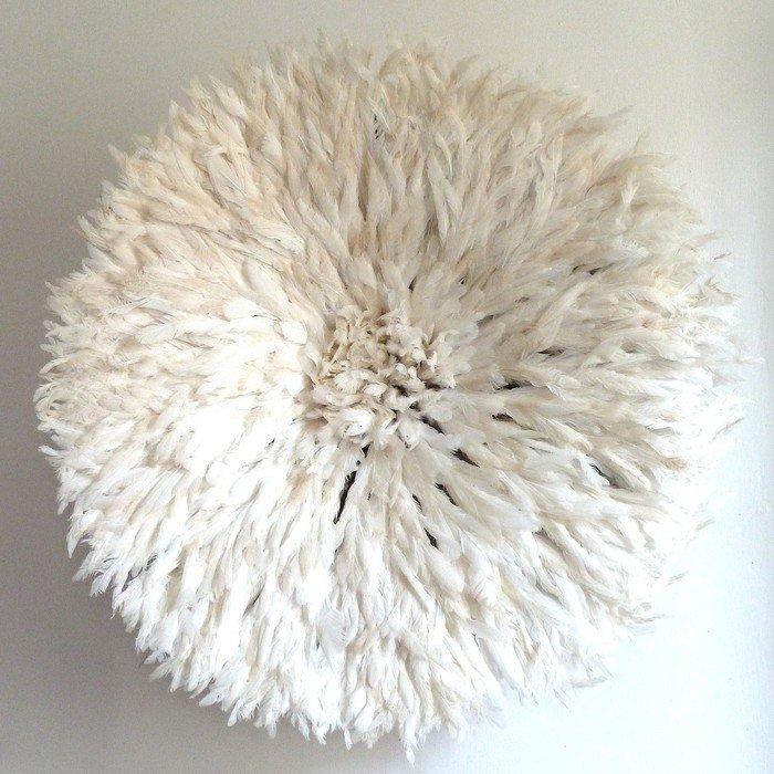 Камерунская шляпа  большая (75 см) Белая