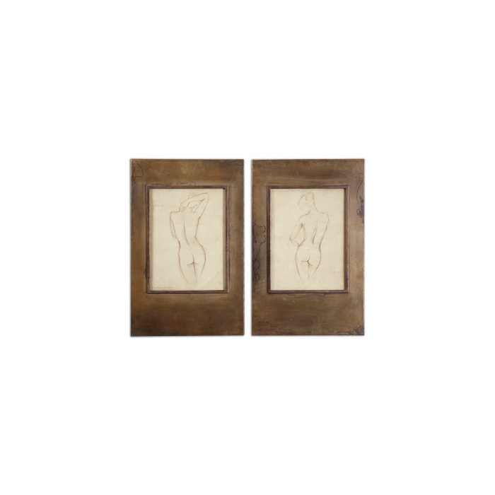 Сет из двух картин Bronze Figures