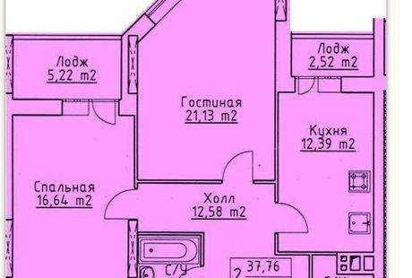 Перепланировка 2-х комнатной в 3-х комнатную, с образованием кухней-гостиной, и гардеробной