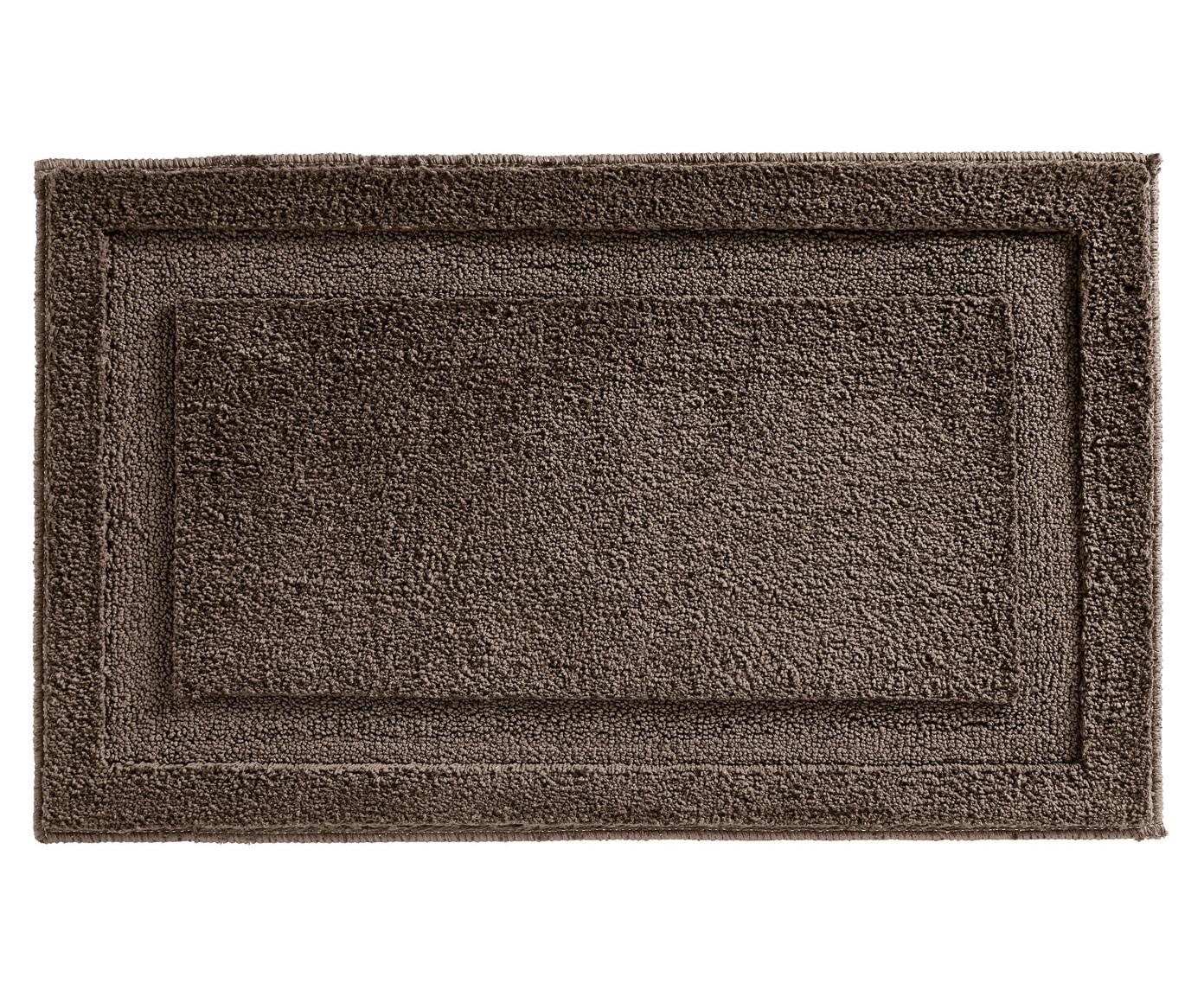 Коврик для ванной коричневого цвета 53х86