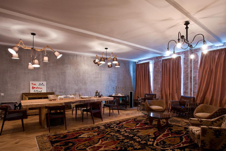 Фотография: Гостиная в стиле Эклектика, Эко, Квартира, Проект недели – фото на InMyRoom.ru