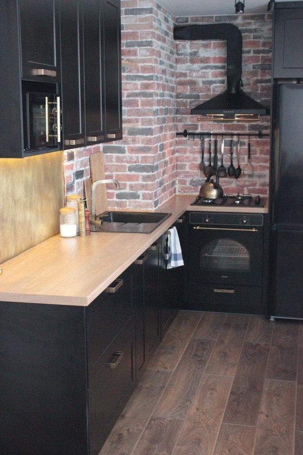 """Фото из портфолио Кухня """"Черное золото"""" – фотографии дизайна интерьеров на INMYROOM"""