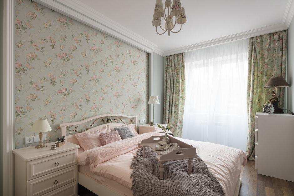 Фотография: Спальня в стиле Прованс и Кантри, Квартира, Проект недели, Балашиха, Монолитный дом, 2 комнаты, 60-90 метров, Анна Елина – фото на InMyRoom.ru