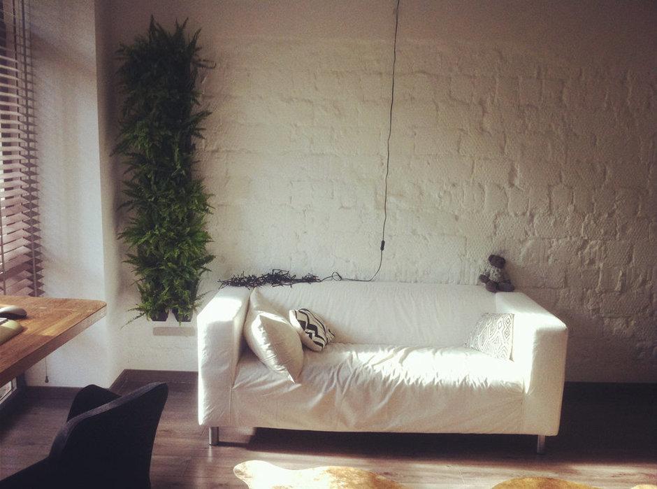 Фотография: Гостиная в стиле Лофт, Скандинавский, Малогабаритная квартира, Квартира, Дома и квартиры – фото на InMyRoom.ru